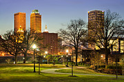 Tulsa Prints - Walkway City View - Tulsa Oklahoma Print by Gregory Ballos