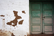 Old Town San Diego Photos - Wall and Double Doors by Anthony Rizzo