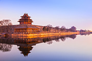 Beijing Prints - Wall and Moat Forbidden City Beijing Print by Colin and Linda McKie