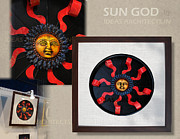 Mural Sculpture Posters - Wall Decor - Sun God Poster by Gaurav Sethi
