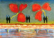 Wall Flowers Print by Yasmine Rafii