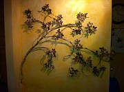Red Leaves Sculptures - Wall Grapevines 2 by Kelly Smith Cassidy