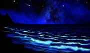 Night Sky Art - Wall Mural Bali Hai Tunnels Beach Kauai by Frank Wilson