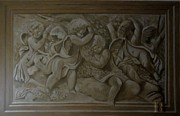 Grisaille Paintings - Wall painting Grisaille by Gea Scheltinga