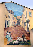 Dave Mills - Wall Painting In Provence