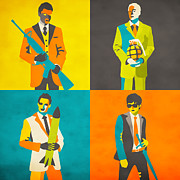 Wall Digital Art - Wall Street Bankers by Jazzberry Blue