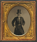 Broker Photos - Wall Street Broker Tintype by Paul Ashby Antique Image