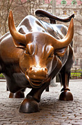 Nyse Photos - Wall Street Bull by Brian Jannsen