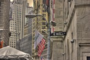 Wall Street Prints - Wall Street -- N Y S E Print by David Bearden
