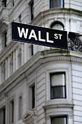Financial District Posters - Wall Street New York City Financial District Poster by Amy Cicconi
