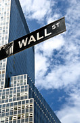 Sign Metal Prints - Wall Street Street Sign New York City Metal Print by Amy Cicconi