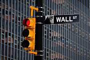 New York Stock Exchange Prints - Wall Street Traffic Light New York Print by Amy Cicconi