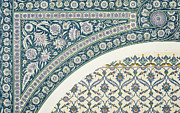 Pattern Drawings Prints - Wall tiles of Sibyl D Abd-El Rahman Kyahya from Arab Art as Seen Through the Monuments of Cairo  Print by Emile Prisse d Avennes