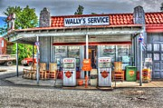 Andy Griffith Show Photo Posters - Wallys Service Station Poster by Dan Stone