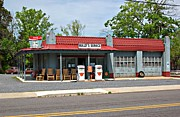 Mt. Airy Framed Prints - Wallys Service Station Mt. Airy NC Framed Print by Bob Pardue