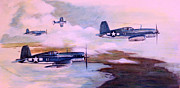 Corps Painting Originals - Walshs Flight Color Study by Stephen Roberson