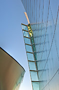 Los Angeles Metal Prints - Walt Disney Concert Hall Vertical Exterior Building Frank Gehry Architect 4 Metal Print by David  Zanzinger