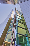 Walt Disney Concert Hall Vertical Exterior Building Frank Gehry Architect 6 Print by David  Zanzinger