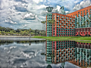 Dolphin Digital Art Framed Prints - Walt Disney World Dolphin Resort After The Storm Framed Print by Thomas Woolworth