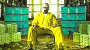 Tv Show Framed Prints - Walter White as Heisenberg Painting Framed Print by Sanely Great