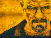 Walter White Breaking Bad Painting Print by Pixel Chimp