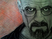 Bad Drawing Drawings Prints - Walter White from Breaking Bad Print by Paula Soesbe