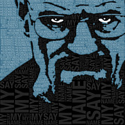 Television Mixed Media - Walter White Heisenberg Breaking Bad by Tony Rubino