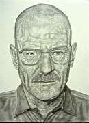 Hyperrealistic Framed Prints - Walter White Framed Print by Rebekah Williamson