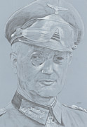 Army Drawings Originals - Walther Model by Dennis Larson
