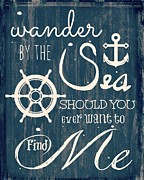 Brandi Fitzgerald Mixed Media - Wander The Sea by Brandi Fitzgerald