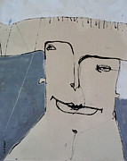 Outsider Art Mixed Media Metal Prints - Wanderer No. 2 Metal Print by Mark M  Mellon