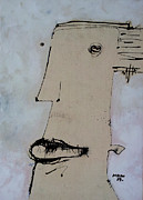 Face Mixed Media Prints - Wanderer No. 24 Print by Mark M  Mellon