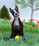 Puppy Digital Art - Wanna Play? by Elle Arden Walby