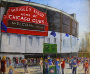 Chicago Cubs Paintings - Want Two?? by Will Germino