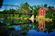 War Eagle Mill And Bridge Print by Gregory Ballos