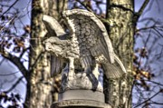 3rd Division Metal Prints - War Eagles - Vermont Company F 1st U. S. Sharpshooters-A1 Pitzer Woods Gettysburg Metal Print by Michael Mazaika