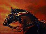 Novel Painting Framed Prints - War Horse Joey  Framed Print by Paul  Meijering