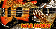 Bass Guitar Posters - War Horse Poster by Robert Frederick