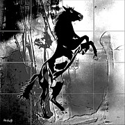 Diving Horse Prints - War horse Print by Roby Marelly