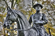 John Pike Art - War Horses Maj Gen John F Reynolds Commander 1st-3rd-11th Corps Army of the Potomac Killed in Action by Michael Mazaika