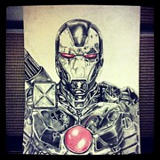 Ironman Drawings - War Machine by Calen Breaux
