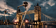 Tower Digital Art Framed Prints - War of the Worlds London Framed Print by Peter Chilelli
