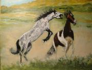 Kay Painting Originals - War on the Range by Judy Kay