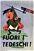 Patriotism Prints - War Poster - WW2 - Out With The Fuhrer Print by Benjamin Yeager