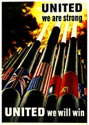 War Poster Photos - War Poster - WW2 - United Allies by Benjamin Yeager