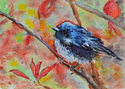 Titmouse Paintings - Warbler by Beverley Harper Tinsley