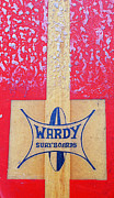 Longboard Posters - Wardy Surfboards Poster by Ron Regalado