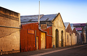 Harbour Photo Prints - Warehouses in Oamaru Otago New Zealand Print by Colin and Linda McKie