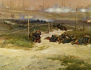 U.s. Army Painting Prints - Warfare Print by Pg Reproductions