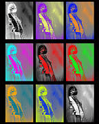 Bass Digital Art - Warhol Bass Scrolls by Lisa Anne Riley